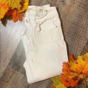Bullhead Denim   White Distressed Skinniest Jeans
